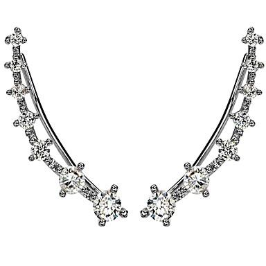 Dames Oor manchetten Eenvoudige Stijl Hypoallergeen Modieus Strass Verzilverd Gesimuleerde diamant Legering Sieraden Sieraden Voor