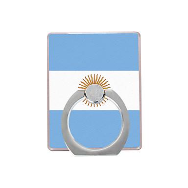 σημαία της αργεντινής μοτίβο πλαστικό δαχτυλίδι κάτοχος / 360 περιστρεφόμενο για κινητό τηλέφωνο iphone 8 7 samsung galaxy s8 s7