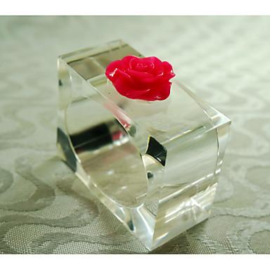 Dikdörtgen Desenli / Geometrik / Tatil Peçete Yüzüğü , Akrilik MalzemeEv Dekore Etme / Otel Yemek Masası / Düğün Dekorasyon / Düğün
