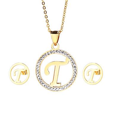 Γυναικεία Σετ Κοσμημάτων αρχική Κοσμήματα Ανοξείδωτο Ατσάλι Επιχρυσωμένο 1 Κολιέ 1 Ζευγάρι σκουλαρίκια Για Πάρτι Καθημερινά Causal Δώρα