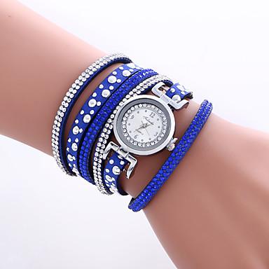 Damskie Kwarcowy Zegarek na nadgarstek Zegarek na bransoletce Kolorowy PU Pasmo Heart Shape Vintage Na co dzień Artystyczny Modny