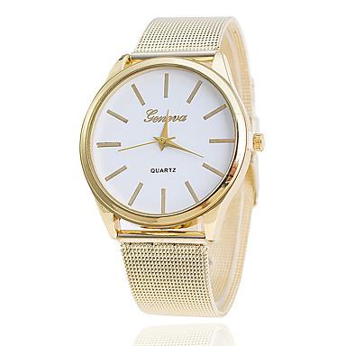 Kadın's Bilek Saati Moda Saat Quartz Alaşım Bant Vintage Günlük Altın Rengi