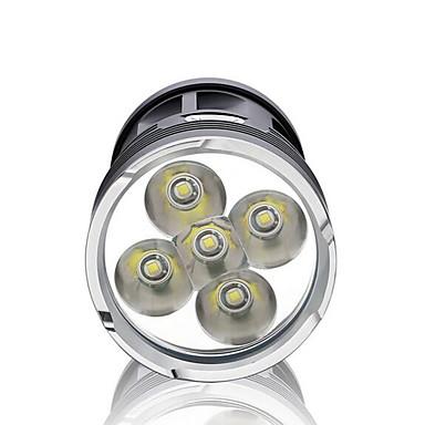 LED Flashlights LED 3000 lm 3 طريقة LED ضد الماء ضوء سوبر عالية الطاقة تخفيت إلى Camping/Hiking/Caving Everyday Use أخضر الصيد السفر