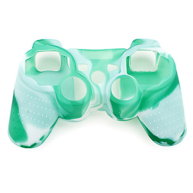 Protective Camouflage Style Silicone Case for PS3 Controller (Green and White)