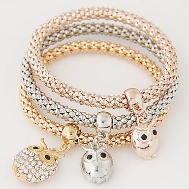 Damskie Bransoletki z breloczkami Luksusowy Wielowarstwowy Modny minimalistyczny styl Europejski Kryształ górski Imitacja diamentu Stop