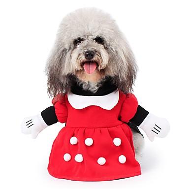 Kediler Köpekler Kostümler Paltolar Kapüşonlu Giyecekler Kıyafetler Tulumlar Köpek Giyimi Kış KarakterlerSevimli Cosplay Moda Sıcak Tutma