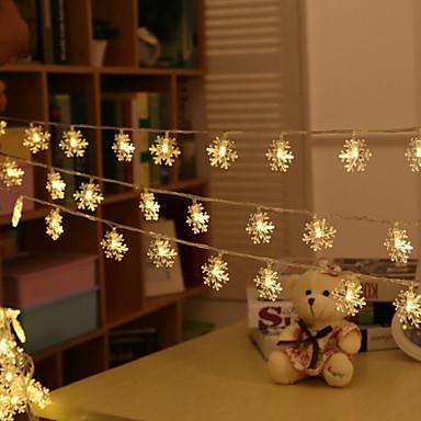 Fényfüzérek 20 LED Meleg fehér Vízálló