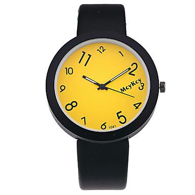 Damskie Modny Zegarek na nadgarstek Kwarcowy PU Pasmo Postarzane Na co dzień Czarny Black Yellow Czerwony Niebieski Różowy