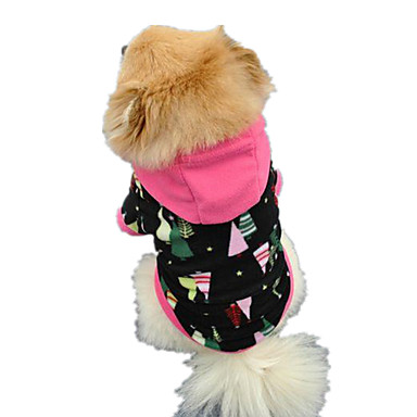Σκύλος Φανέλα Φούτερ με Κουκούλα Ρούχα για σκύλους Χαριτωμένο Καθημερινά Συνδυασμός Χρωμάτων Ουράνιο Τόξο