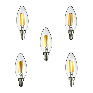 E14 LED-gloeilampen CA35 400 lm Warm wit Koel wit Decoratief AC 220-240 V 5 stuks