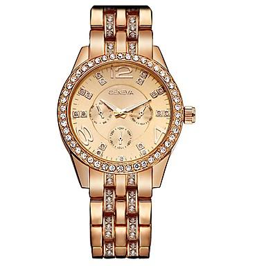 Geneva Damskie Kwarcowy Zegarek na nadgarstek Nowoczesne Stop Pasmo Urok / Błyszczące Srebro / Złoty / Różowe złoto