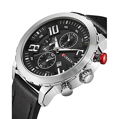 Heren Man Militair horloge Dress horloge Modieus horloge Polshorloge Armbandhorloge Vrijetijdshorloge Sporthorloge Japans Kwarts Kalender