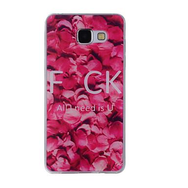 غطاء من أجل Samsung Galaxy A5(2016) A3(2016) نموذج غطاء خلفي زهور ناعم TPU إلى A8(2016) A5(2016) A3(2016) A8 A7 A5 A3