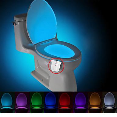 brelong zmodernizowane wodoodporna aktywowany ruchem nightlight WC WC doprowadziły światła łazienka ubikacja dc4.5v