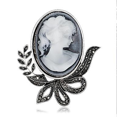 kobiet mody retro aluminiowe / Rhinestone kwiatowe broszki szpilka stroną / dziennie klipy szalik biżuteria akcesoria 1szt