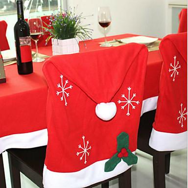 1szt dekoracje choinkowe włókniny płatki krzesło obejmuje 50 * 65cm