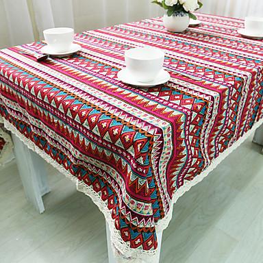 Dikdörtgen Desenli Masa Örtüleri , Linen / Pamuk Karışımı Malzeme Akşam yemeği Dekor Favor Ev Dekore Etme Otel Yemek Masası Düğün