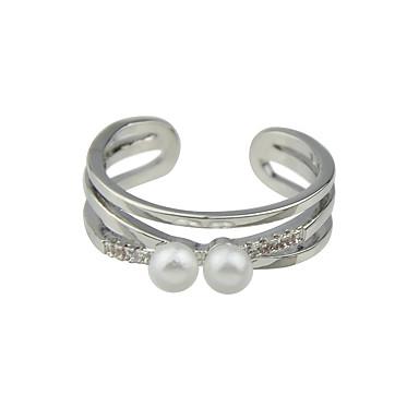Pierścionki Pearl imitacja Codzienny / Casual Biżuteria Stop Damskie Obrączki 1szt,8 Złoty / Srebrne