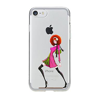 Na Półprzezroczyste / Wzór Kılıf Etui na tył Kılıf Seksowna dziewczyna Miękkie TPU na AppleiPhone 7 Plus / iPhone 7 / iPhone 6s Plus/6