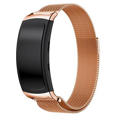 حزام إلى Gear Fit 2 Samsung Galaxy عقدة ميلانزية ستانلس ستيل شريط المعصم