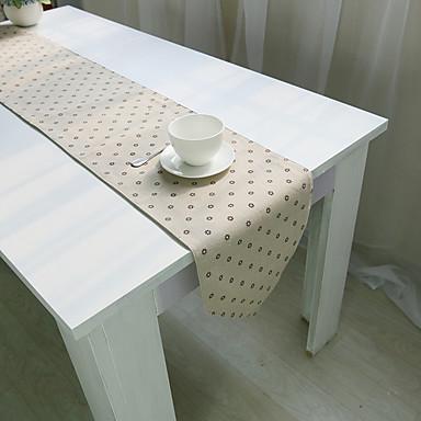 Prostokątny Kwiaty Wzorzyste Bieżniki , Mieszanka bawełny Materiał Hotel Stół Tabela Dceoration