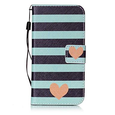 Недорогие Чехлы и кейсы для Galaxy S6-Кейс для Назначение SSamsung Galaxy S7 edge / S7 / S6 edge plus Кошелек / Бумажник для карт / Флип Чехол С сердцем Твердый Кожа PU