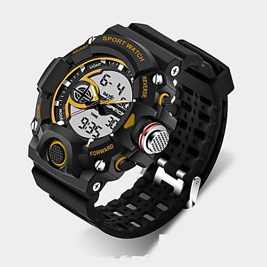 SANDA Erkek Spor Saat Asker Saat Akıllı Saat Moda Saat Bilek Saati LED Kronograf Su Resisdansı Çift Zaman Bölmeli Kronometre Gece Parlayan