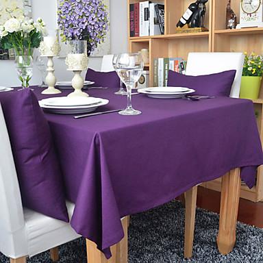 Suorakulma Yhtenäinen Table Cloths , 100% puuvillaa materiaali Hotel ruokapöytä Taulukko Dceoration Illallinen sisustus Favor Sisustus