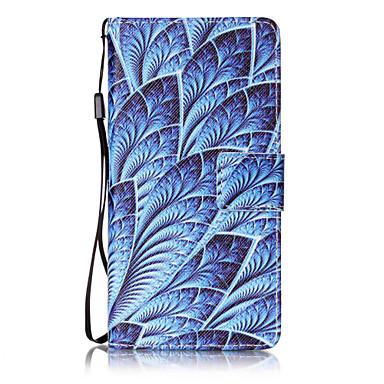 Varten huawei p8 lite p9 kotelokotelo sininen kukka kuvio maalaus kortti stent pu nahkaa