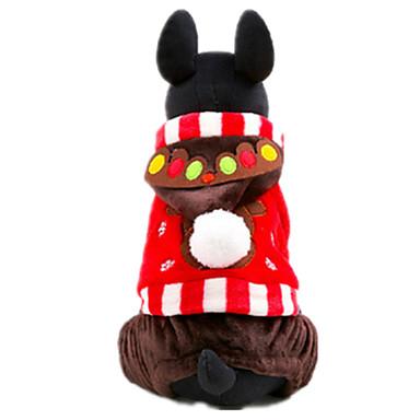 Σκύλος Παλτά Ρούχα για σκύλους Καθημερινά Χιονονιφάδα Κόκκινο