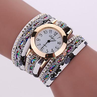 preiswerte Damen Uhren-Damen Uhr Luxus-Armbanduhren Armband-Uhr Armbanduhr Quartz Legierung Schwarz / Weiß / Blau Cool Analog damas Charme Glanz Retro Freizeit Rot Grün Hellblau / Ein Jahr / Ein Jahr