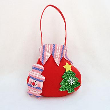 4pcs χριστουγεννιάτικο δώρο τσάντα καραμέλα τσάντα κόμμα προμήθειες Χριστούγεννα τσάντα μήλο δώρο (στυλ τυχαία)