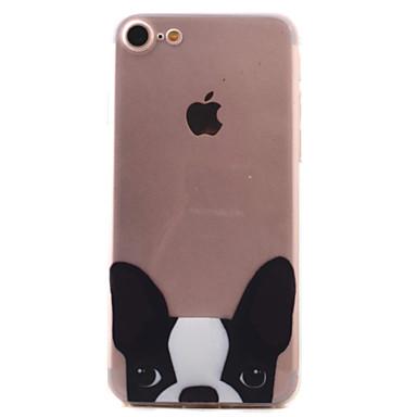Kılıf Na Apple Etui iPhone 5 iPhone 6 iPhone 7 Wzór Czarne etui Pies Miękkie TPU na iPhone 7 Plus iPhone 7 iPhone 6s Plus iPhone 6s