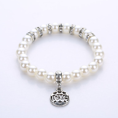 economico Bracciali-Per uomo Per donna Braccialetto con perline Bracciale Yoga Perla Gioielli braccialetto Argento Per Feste Compleanno Complimenti Attività commerciale Regalo Casual / Perle finte