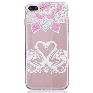 Mert Áttetsző Case Hátlap Case Virág Puha TPU Apple iPhone 7 Plus / iPhone 7 / iPhone 6s Plus/6 Plus / iPhone 6s/6 / iPhone SE/5s/5