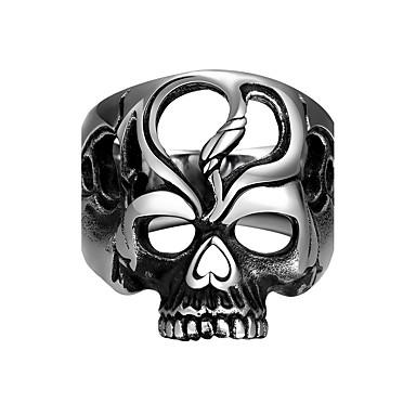 Yüzük Paslanmaz Çelik Skull shape Gümüş Mücevher Halloween Günlük Spor 1pc