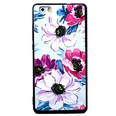 Varten huawei p8 p9 neljä kukkia kuvio tpu materiaali maalattu helpotus puhelin tapauksessa P8 lite p9 lite y5ii kunnia5a kunnia8 mate7
