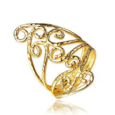 Női Gyűrű jelmez ékszerek Arannyal bevont 18K arany Ékszerek Kompatibilitás Esküvő Parti Napi Hétköznapi