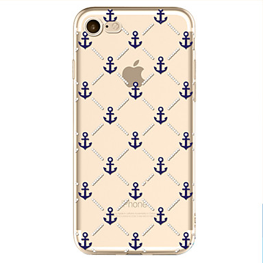 voordelige iPhone X hoesjes-hoesje Voor Apple iPhone X / iPhone 8 Plus / iPhone 8 Patroon Achterkant Cartoon / Anker Zacht TPU