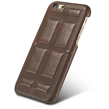 Etui Käyttötarkoitus Apple iPhone 5 kotelo iPhone 6 iPhone 7 Iskunkestävä Takakuori Yhtenäinen väri Kova aitoa nahkaa varten iPhone 7