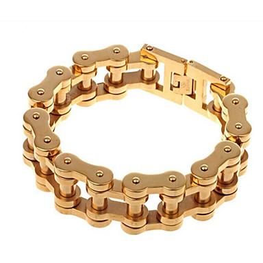 للرجال أساور السلسلة والوصلة موضة الفولاذ المقاوم للصدأ مطلية بالذهب مجوهرات من أجل حزب الذكرى السنوية عيد ميلاد هدية يوميا فضفاض