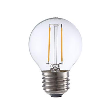2W E26 LED Filament Bulbs G16.5 2 COB 200 lm Warm White Dimmable 120V 1 pcs