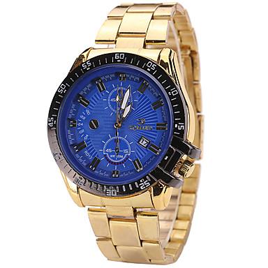 Męskie Zegarek na nadgarstek Kwarcowy Kalendarz Stop Pasmo Nowoczesne Na co dzień Złoty White Black Niebieski
