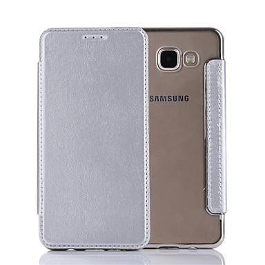 Για Θήκες Καλύμματα Ανοιγόμενη Πλήρης κάλυψη tok Συμπαγές Χρώμα Σκληρή PU Δέρμα για Samsung Galaxy A7(2016) A5(2016) A3(2016)