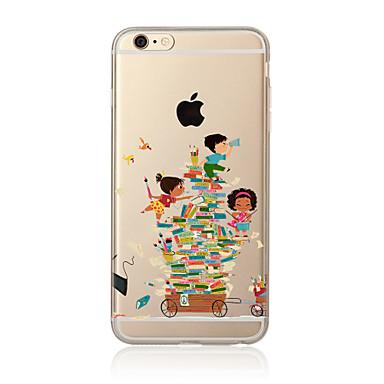 Etui Käyttötarkoitus Apple iPhone X iPhone 8 Plus iPhone 7 iPhone 6 iPhone 5 kotelo Läpinäkyvä Kuvio Takakuori Piirretty Pehmeä TPU varten
