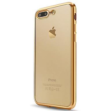 tok Για Apple iPhone X iPhone 8 iPhone 6 iPhone 7 Plus iPhone 7 Επιμεταλλωμένη Ημιδιαφανές Πίσω Κάλυμμα Συμπαγές Χρώμα Μαλακή TPU για