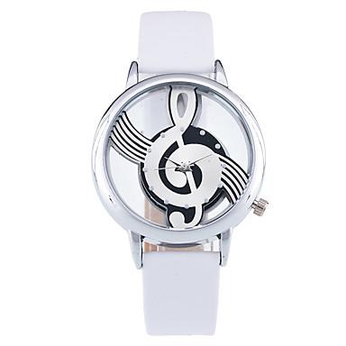 Γυναικεία Μοδάτο Ρολόι Ρολόι Καρπού Μοναδικό Creative ρολόι Χαλαζίας PU Μπάντα Πεπαλαιωμένο Καθημερινά Μαύρο Λευκή Λευκό Μαύρο