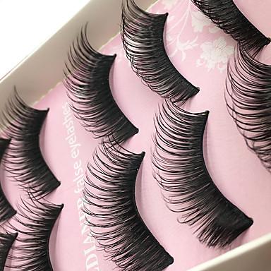 βλεφαρίδες Βλεφαρίδα Βλεφαρίδες ολόκληρες Μάτια Χοντρό Ανυψωμένες Βλεφαρίδες Volumized Χειροποίητο Ίνα Black Band 0.10mm 15mm