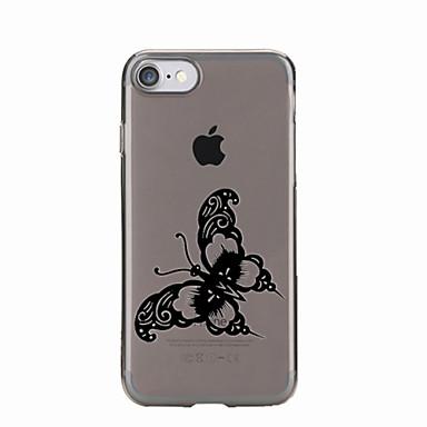 Na Przezroczyste / Wzór Kılıf Etui na tył Kılıf Motyl Miękkie TPU na AppleiPhone 7 Plus / iPhone 7 / iPhone 6s Plus/6 Plus / iPhone 6s/6