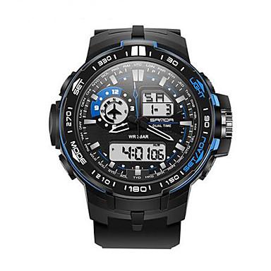 SANDA Erkek Bilek Saati Akıllı İzle Asker Saat Moda Saat Spor Saat Dijital Japon Kuvartz Kronograf Su Resisdansı LED Gece Parlayan